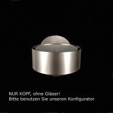 Puk Wall Halogen Kopf, nickel-matt